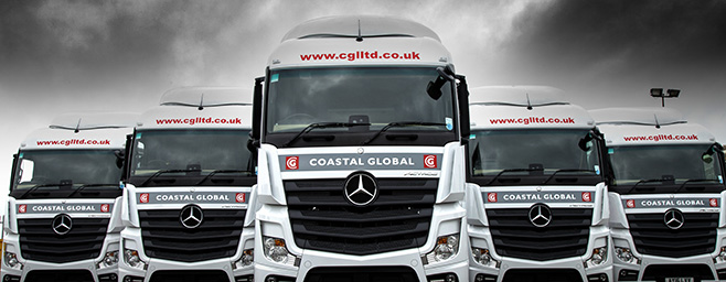 CGL Trucks from the front